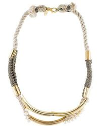 3.1 Phillip Lim - Long Jagger Tube Necklace Tan - Lyst