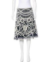 Naeem Khan - Embellished Knee-length Skirt Navy - Lyst