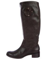3ca6b435da1 Lyst - Tory Burch Suede Knee-length Boots in Black