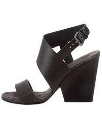 Brunello Cucinelli - Leather Monili-embellished Wedges - Lyst