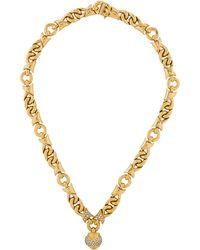 bvlgari diamond profumo heart collar necklace yellow lyst