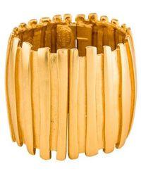 Nina Ricci - Wide Hinged Bangle Gold - Lyst