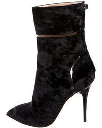 Monique Lhuillier - Velvet Ankle Boots - Lyst