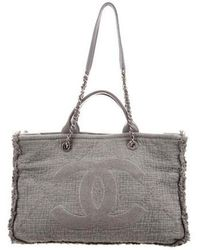 Chanel - 2018 Medium Double Face Deauville Tote Grey - Lyst