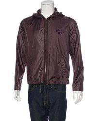 Marc Jacobs - Woven Hooded Jacket Aubergine - Lyst