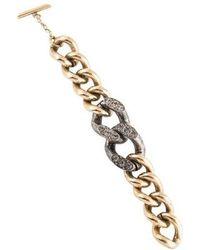 Lanvin - Crystal Link Bracelet Gold - Lyst