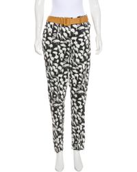 Sophie Theallet - Printed High-rise Pants W/ Tags Grey - Lyst