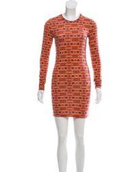 Torn By Ronny Kobo - Printed Mini Dress Orange - Lyst