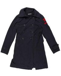 Hysteric Glamour - Patchwork Deconstructed Coat Navy - Lyst