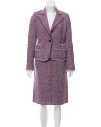 Marc Jacobs - Tweed Knee-length Skirt Suit - Lyst
