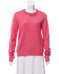 Rochas - Virgin Wool Crew Neck Sweater - Lyst