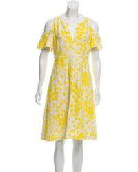 Dorothee Schumacher - Cold-shoulder Knee-length Dress - Lyst