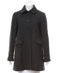 Loro Piana - Short Cashmere Coat Navy - Lyst