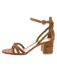 Gianvito Rossi - Liya Suede Ankle Sandals W/ Tags - Lyst