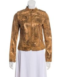Tory Burch - Leather Jacket Gold - Lyst