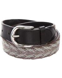 Étoile Isabel Marant - Woven Leather Belt Grey - Lyst