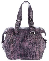 Zac Posen - Embossed Leather Tote Violet - Lyst
