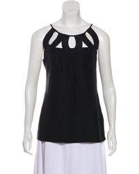 Loeffler Randall - Silk Sleeveless Top Black - Lyst