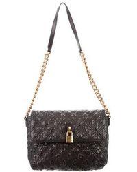 6ac7f9c31ecd Lyst - Marc Jacobs Leather Angela Bag Black in Metallic
