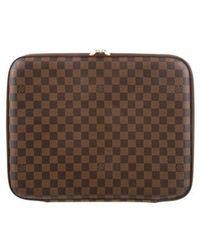 """Louis Vuitton - Damier Ebene 15"""" Laptop Case - Lyst"""