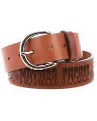 Mother - Engraved Leather Belt W/ Tags Brown - Lyst