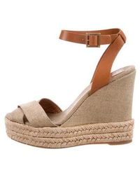 18f424287ce Lyst - Tory Burch Karissa Espadrille Wedges Tan in Natural