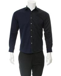 Timo Weiland - Colorblock Button-up Shirt W/ Tags Navy - Lyst