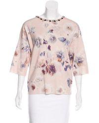 Dior - Wool & Silk Knit Top - Lyst