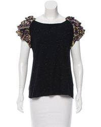 SUNO - Speckled Bateau Neck Top W/ Tags - Lyst