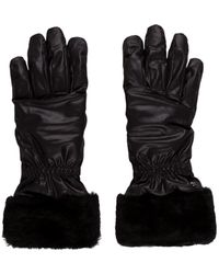 UGG - Fur-trimmed Gloves - Lyst