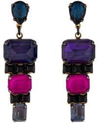 Erickson Beamon - Crystal Drop Earrings Gold - Lyst