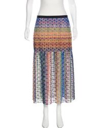 Saloni - Lace Midi Skirt - Lyst