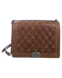 306fbf574402 Lyst - Chanel Medium Gentle Boy Bag Black in Metallic