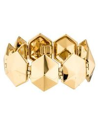 Rachel Zoe - Hexagon Link Bracelet Gold - Lyst