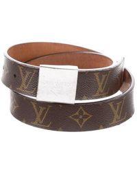 413f06a1ddf7 Lyst - Louis Vuitton Monogram Vernis Belt Gold in Metallic