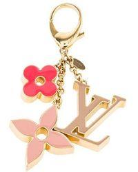 Louis Vuitton - Fleur De Monogram Bag Charm Brass - Lyst