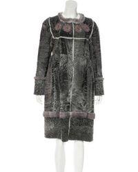 Peter Som - Fur Knee-length Coat Grey - Lyst