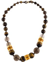 Alexis Bittar - Multistone Bead Necklace Gold - Lyst