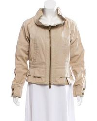 RED Valentino - Pleat Accented Short Jacket Beige - Lyst