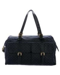 Louis Vuitton - Mini Lin Louise Weekender Bag Navy - Lyst