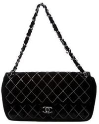 4509515c481653 Lyst - Chanel Python Ultimate Stitch Flap Bag Red in Metallic