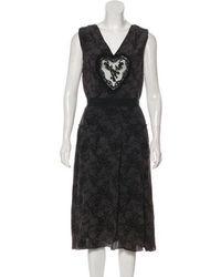 Behnaz Sarafpour - Silk Mini Dress - Lyst