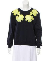 Carven - Appliqué-accented Sweatshirt Navy - Lyst
