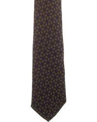 Petronius - Printed Silk Tie Navy - Lyst
