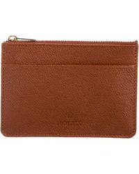 Rolex - Leather Zip Pouch Tan - Lyst