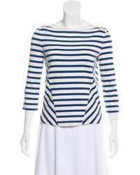 Veronica Beard - Long Sleeve Stripe Top - Lyst