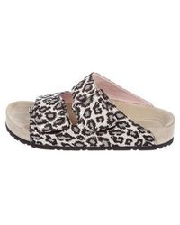Giamba - Glitter Slide Sandals Silver - Lyst