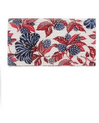 Tory Burch - Julie Resin Floral Clutch White - Lyst