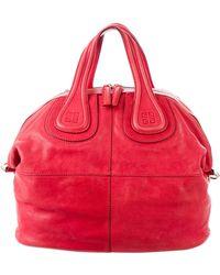 Givenchy - Medium Nightingale Satchel Red - Lyst