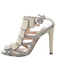 Chrissie Morris - Valentina Caged Pump W/ Tags Green - Lyst